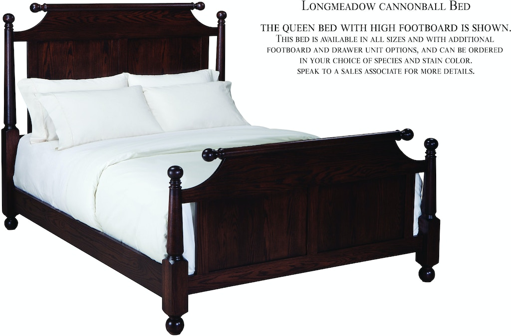Palettes by Winesburg Bedroom Cannonball Bed with Rail Footboard ...