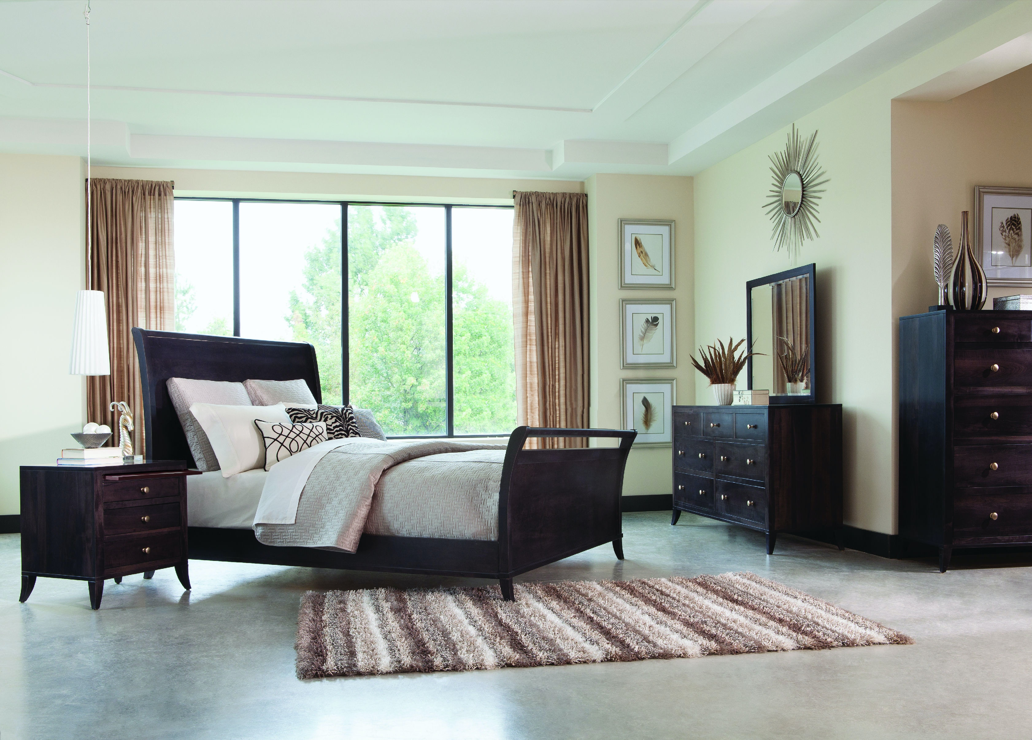 Palettes By Winesburg Adrienne Sleigh Bed With High Footboard