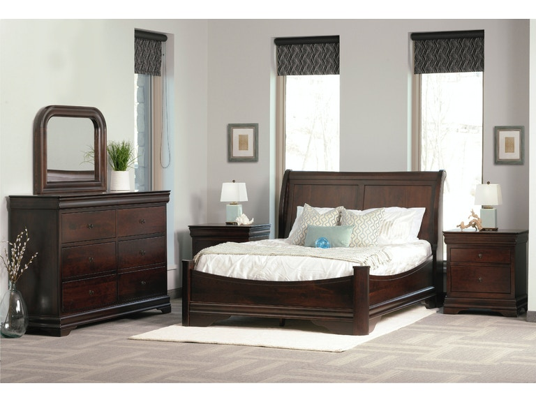 Palettes By Winesburg Bedroom Sleigh Panel Bed With Rail Footboard Magnificent Avignon Bedroom Furniture Decor
