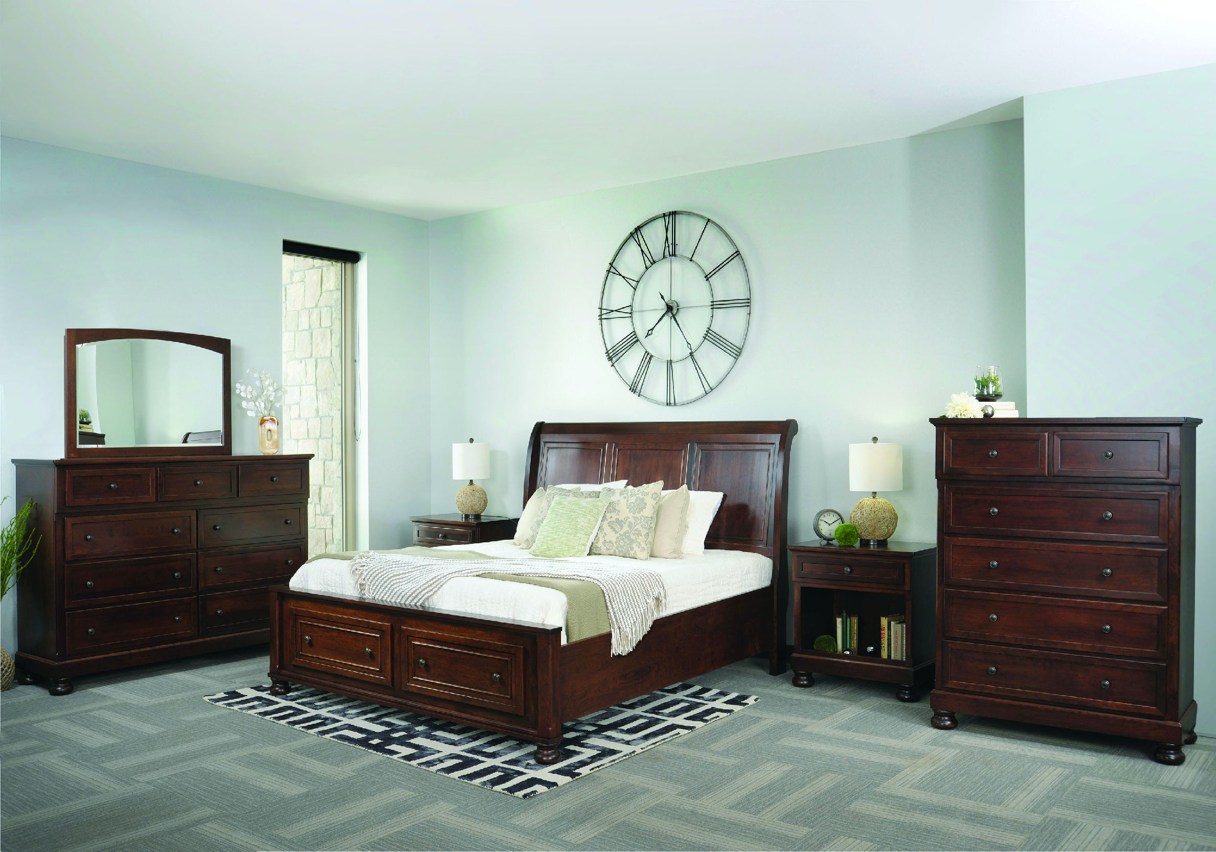 Palettes By Winesburg Bedroom Brigantine Sleigh Bed With Left Side