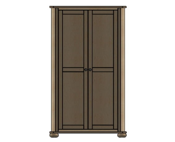 Palettes By Winesburg Bedroom Wardrobe 1
