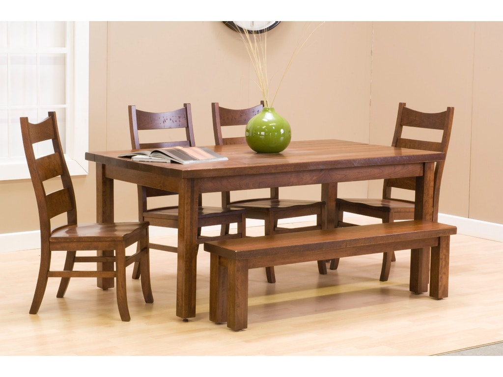 palettes by winesburg dining room plank side bench 36bensm