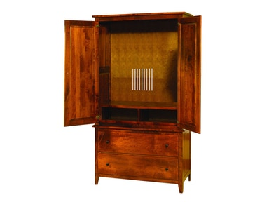 YUTZY WOODWORKING Jamestown Square 2 Piece Media Armoire 56071