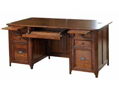 YUTZY WOODWORKING Double Pedestal Executive Desk 88207
