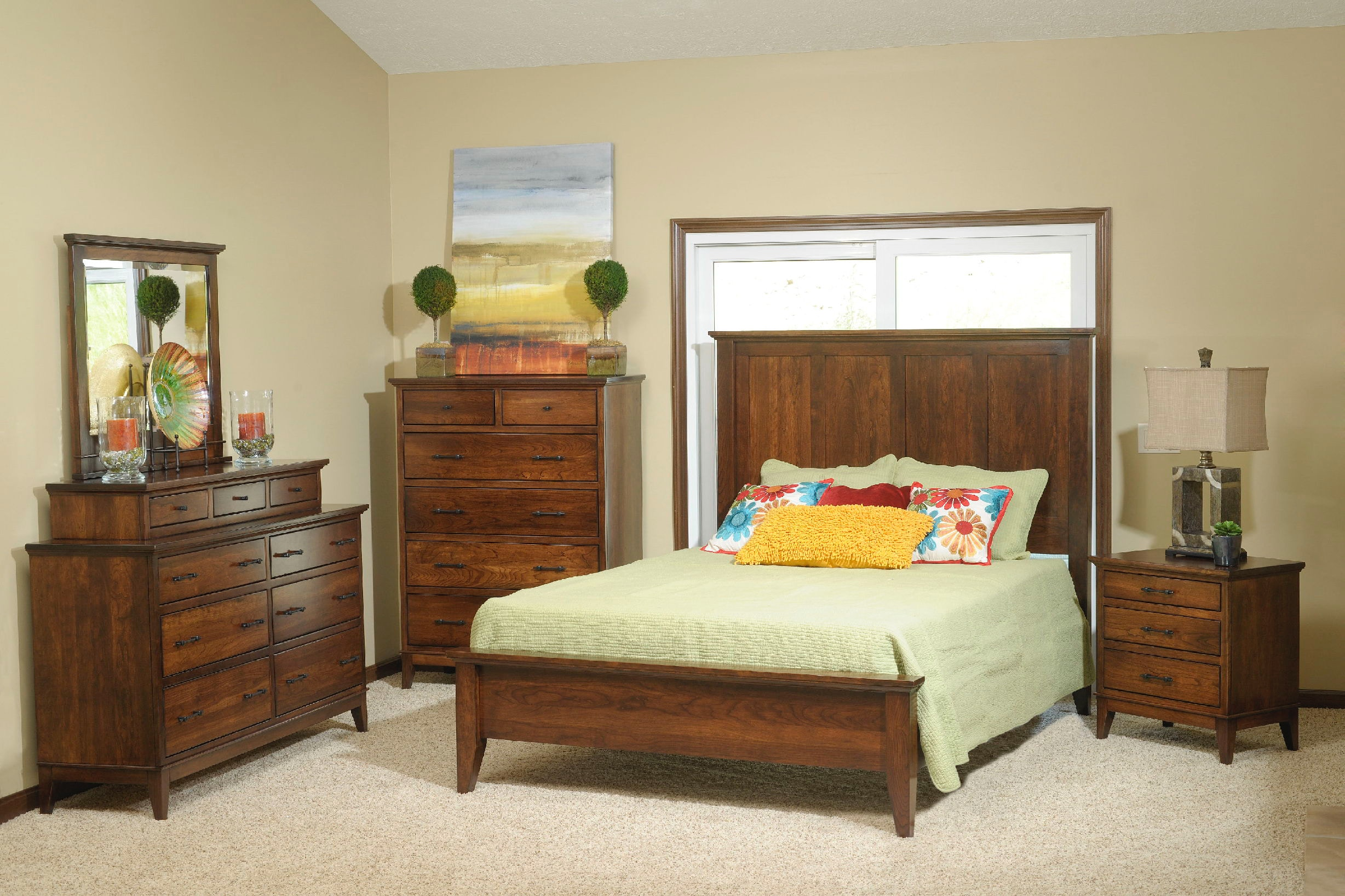 Yutzy woodworking bedroom cortland panel bed 1909 moores for Bedroom furniture limerick