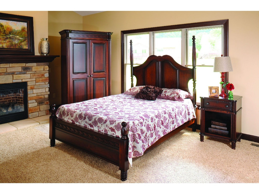 Yutzy woodworking bedroom new generations poster bed 74120 for Bedroom furniture limerick