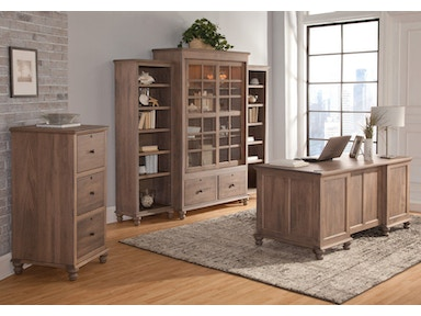 YUTZY WOODWORKING Double Pedestal Executive Desk 88307