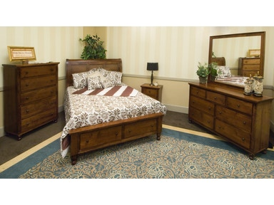 YUTZY WOODWORKING Footboard Drawer Unit Bed 48005