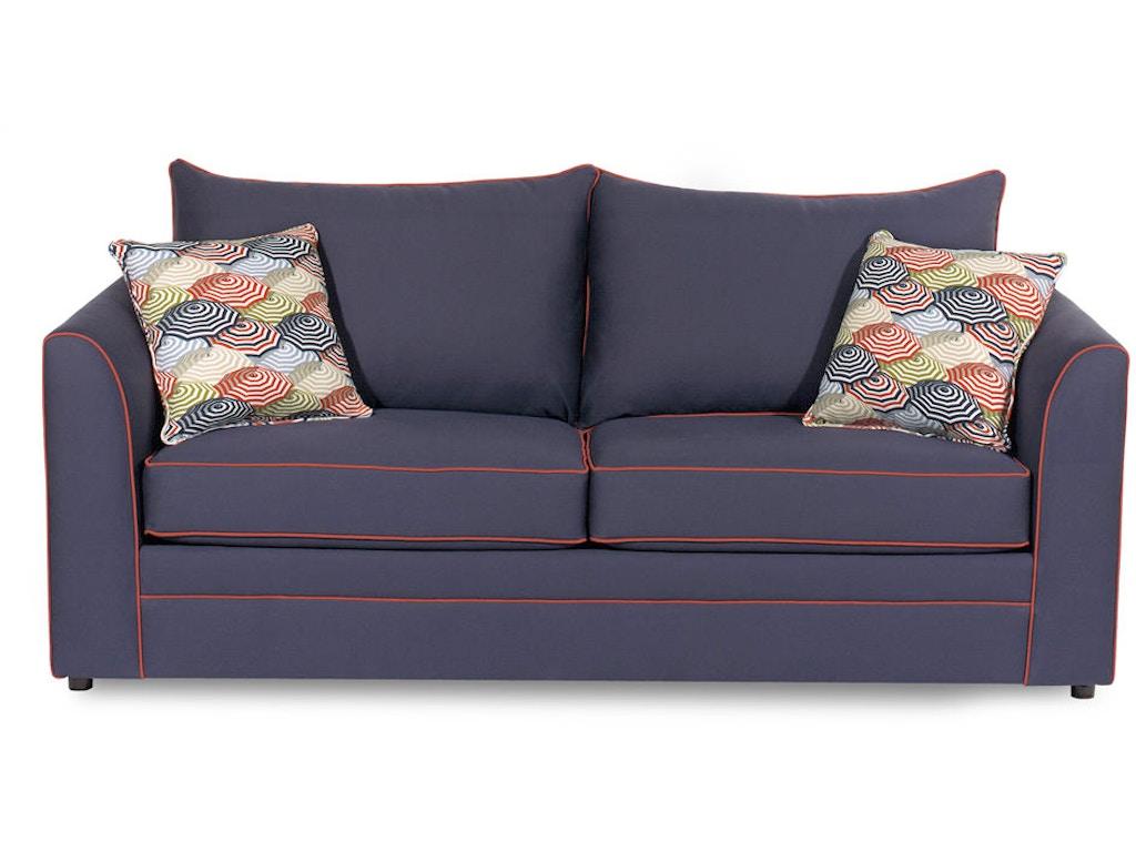 Craftmaster Living Room Two Cushion Queen Sleeper Sofa