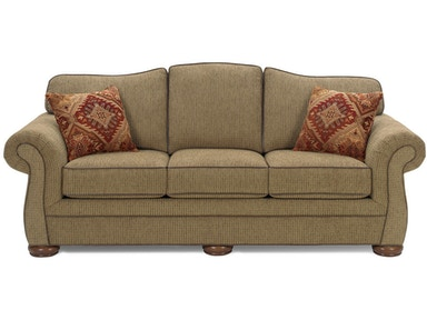 Craftmaster Living Room Three Cushion Queen Sleeper Sofa