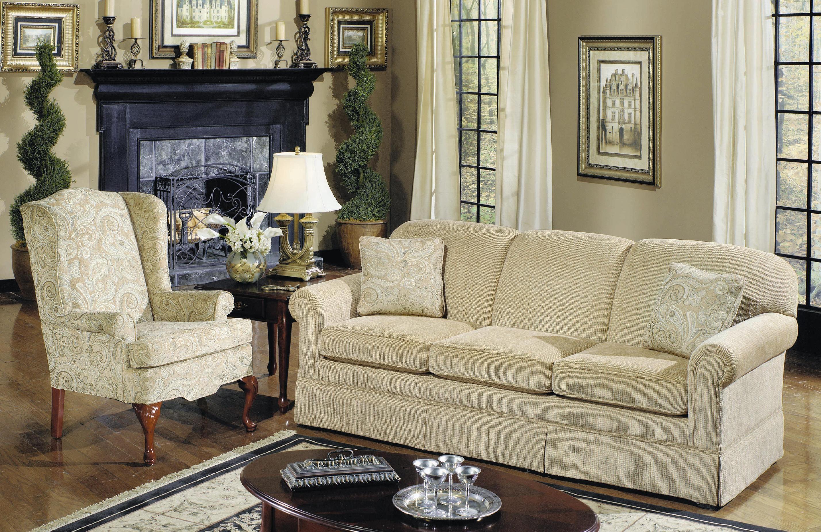 craftmaster three cushion queen sleeper sofa sleeper