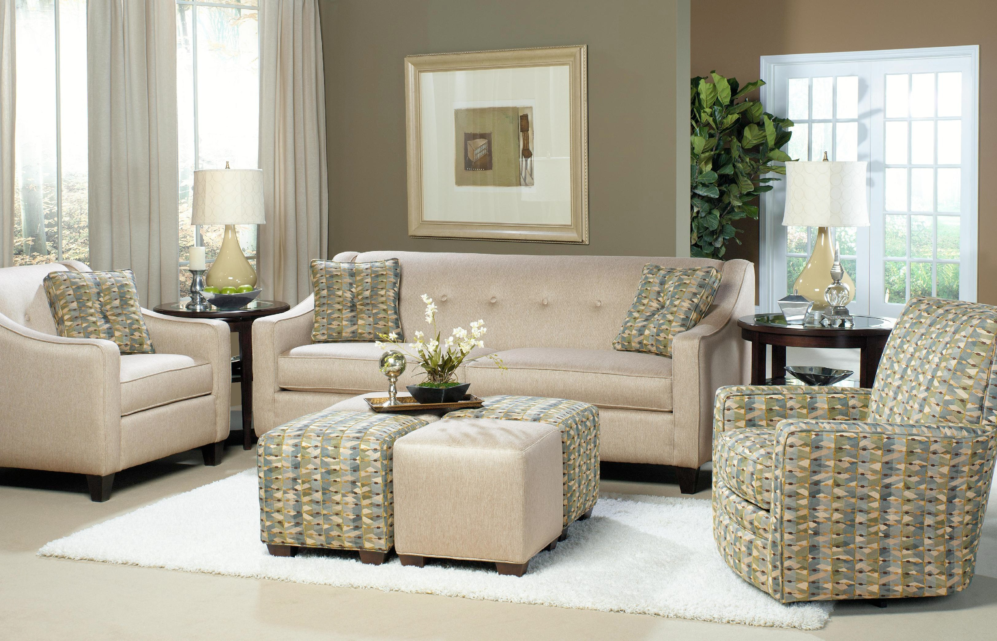 Craftmaster living room two cushion sofa 706950 sleeper also available craftmaster for Encore home designs by craftmaster
