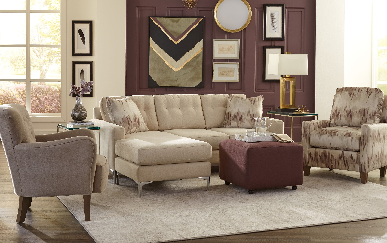 craftmaster living room sofa chaise 766157 craftmaster
