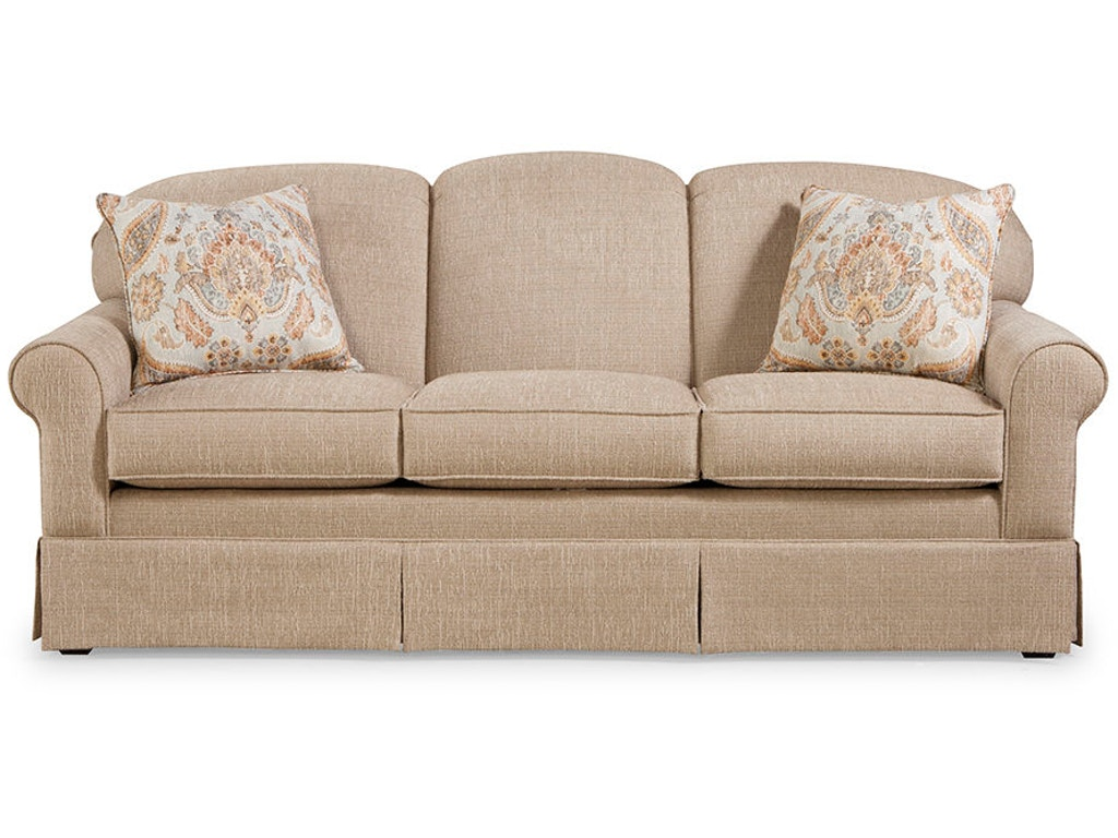 Craftmaster living room three cushion sofa 918250 for Classic furniture new albany in