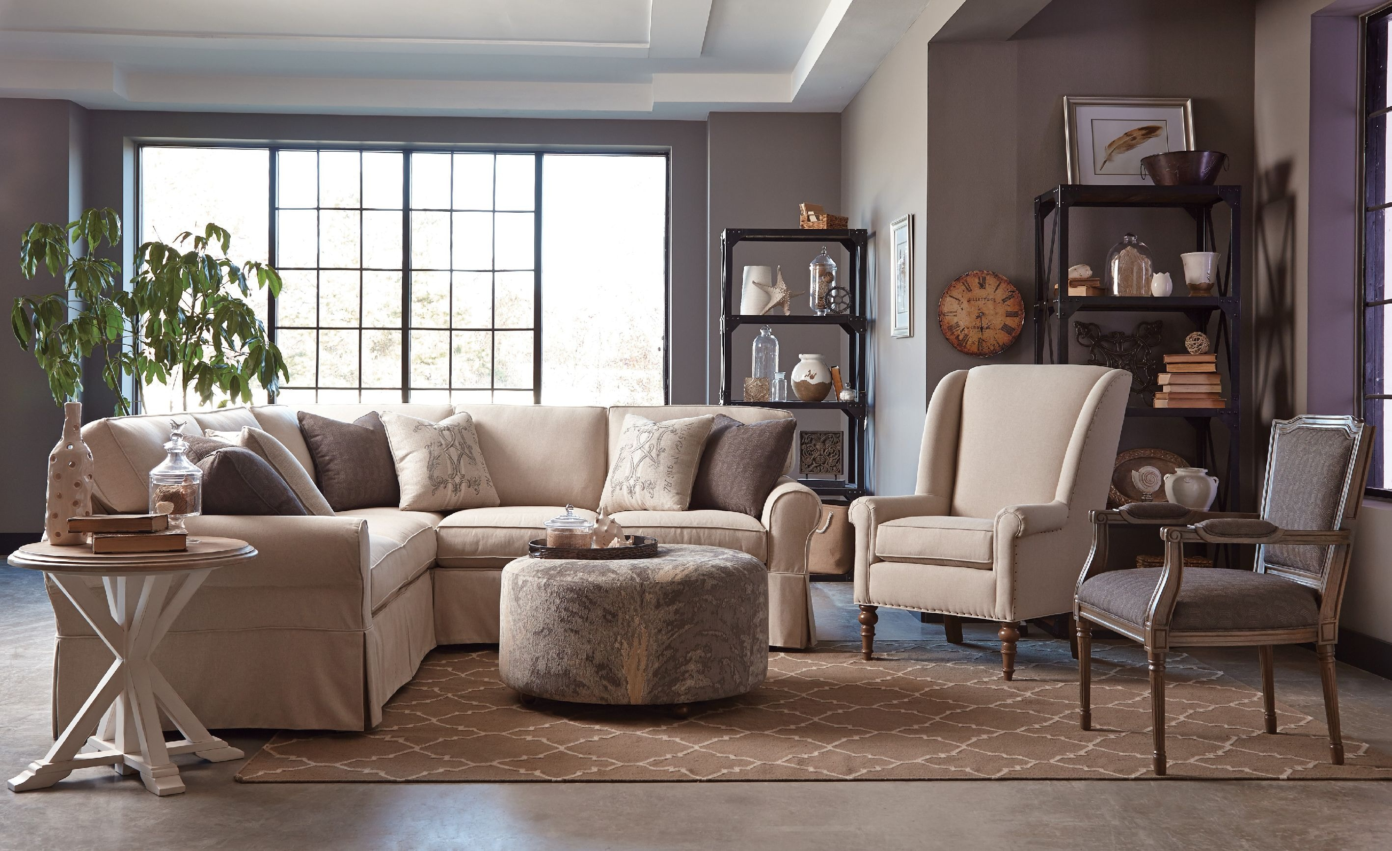 Craftmaster living room sectional 9228 sect sleeper craftmaster hiddenite nc for Encore home designs by craftmaster