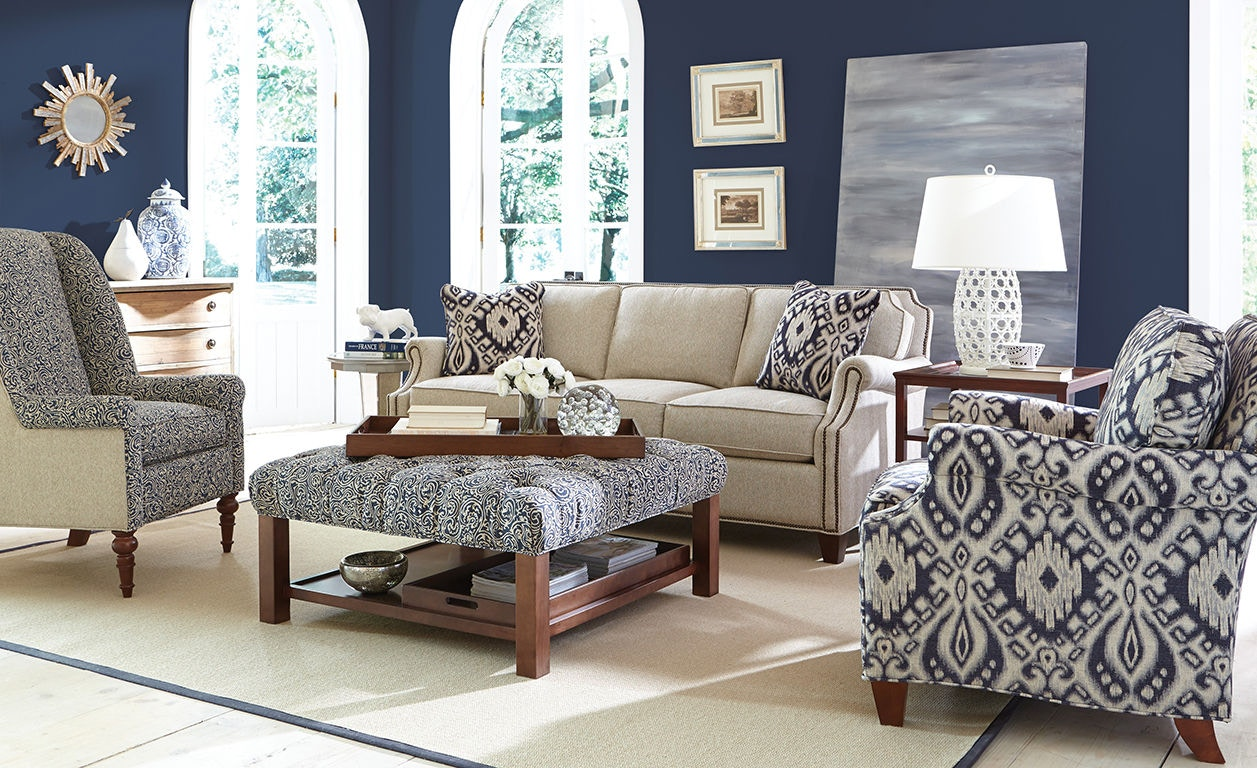 Craftmaster living room sofa 938350 craftmaster - Living room sectionals with ottoman ...