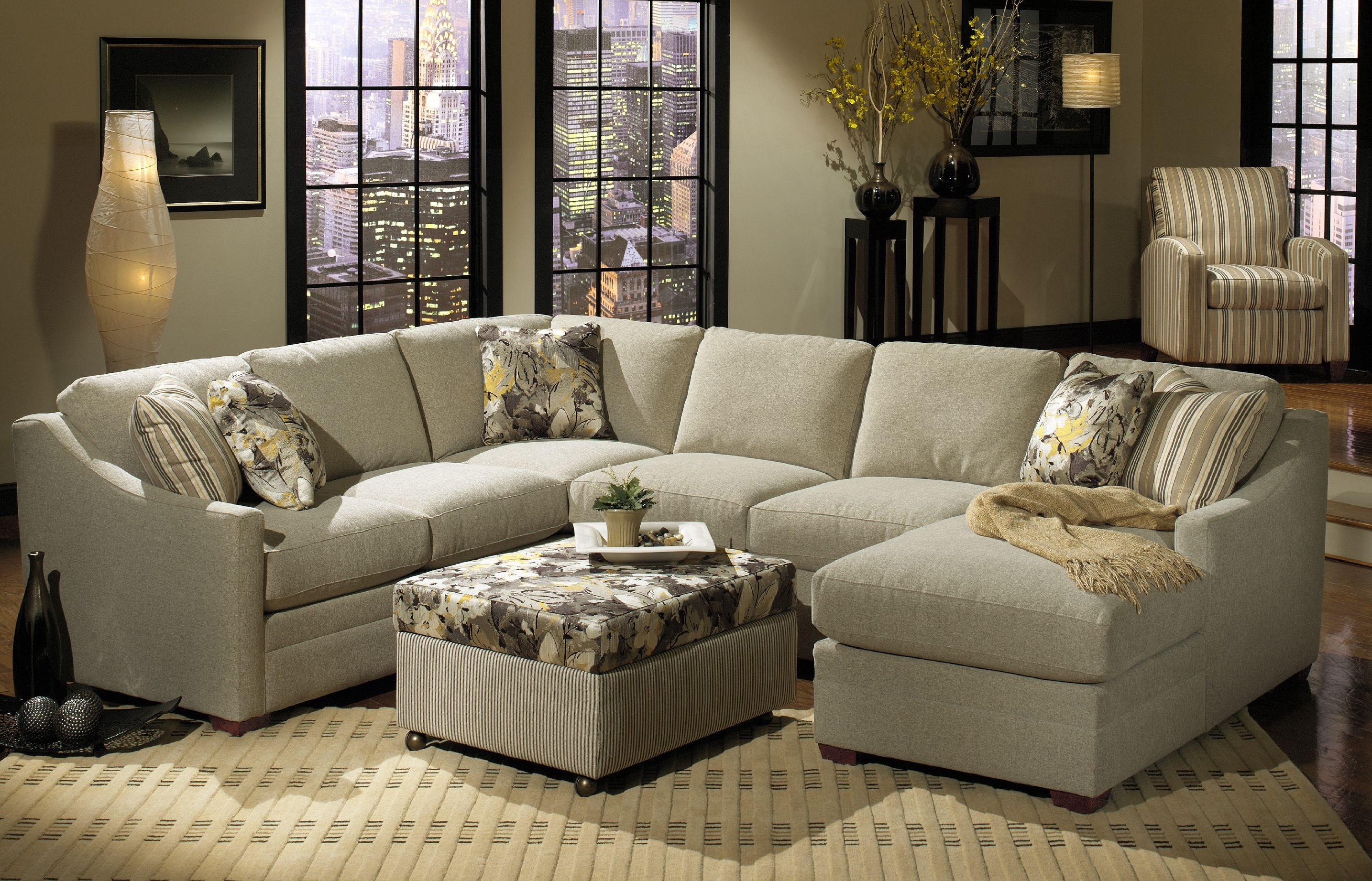 craftmaster living room sectional f9332-sect