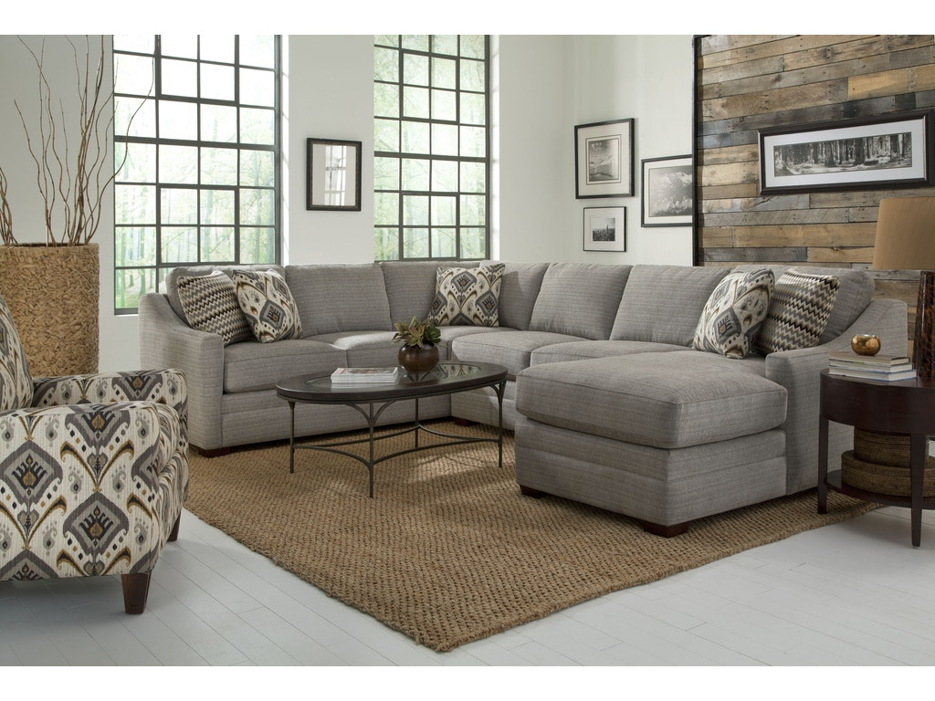 Craftmaster Living Room Sectional F9332 Sect Craftmaster Hiddenite Nc