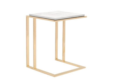 Curations Limited Deco Small Side Table 1001.1017.White