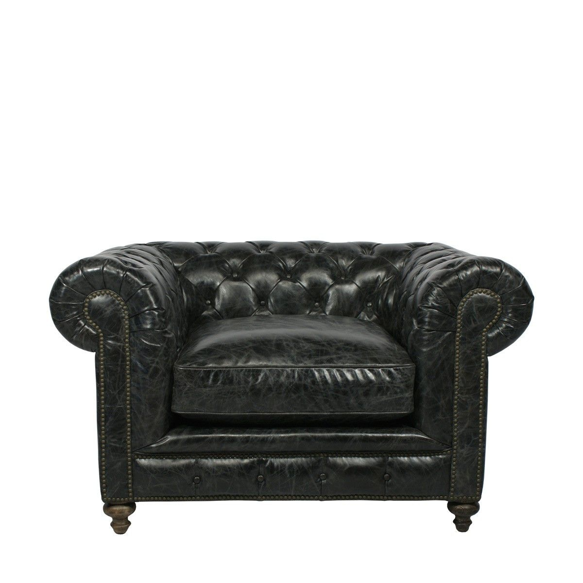 Curations Limited Cigar Club Leather Arm Chair 7841.3002.2 ...