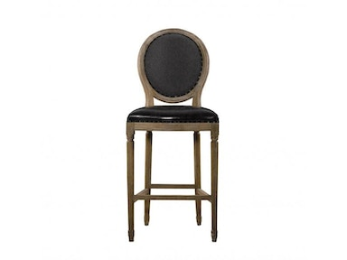 Curations Limited Vintage Louis Slate Back Counter Stool 8828.3001