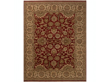 Jaipur Rugs Jaipur Hand-Knotted Oriental Pattern Red/Taupe & Tan wool Area Rug AL23