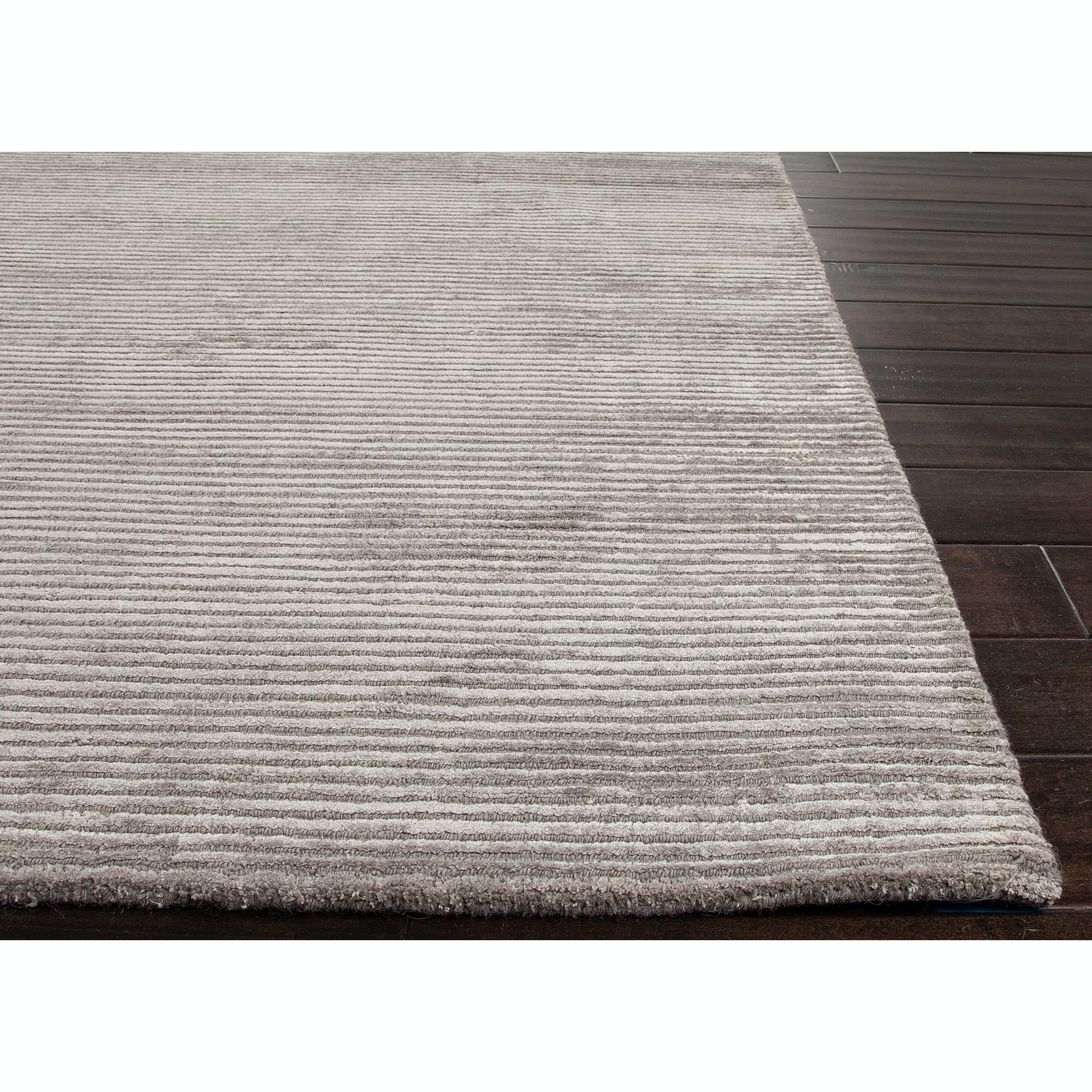 jaipur rugs solids handloom solid pattern wool art silk gray area rug