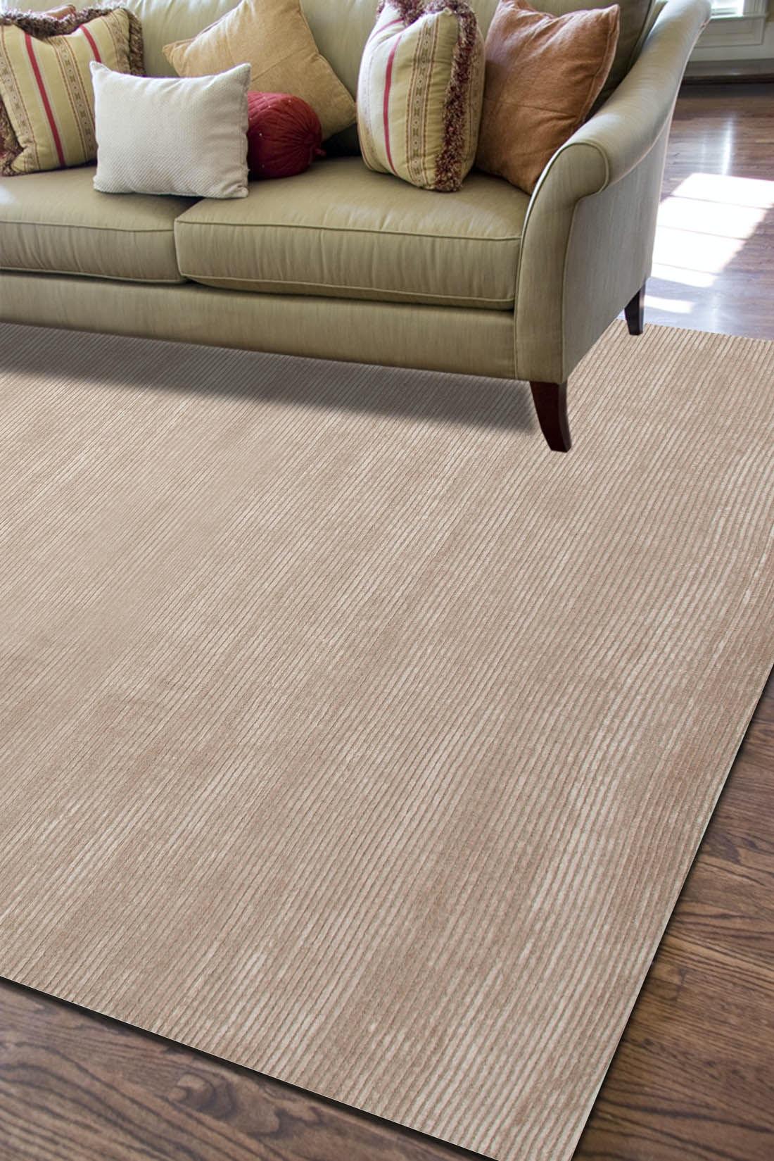 ... Jaipur Rugs Solids/ Handloom Solid Pattern Wool/ Art Silk Taupe/Tan Area  Rug ...