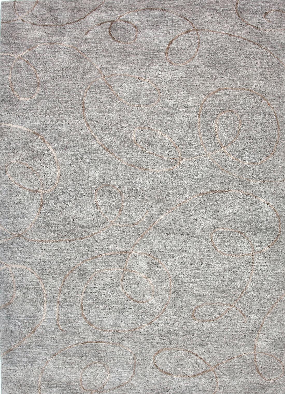 Jaipur Rugs Hand Tufted Abstract Pattern Wool/ Art Silk Blue/Tan Area Rug  ...