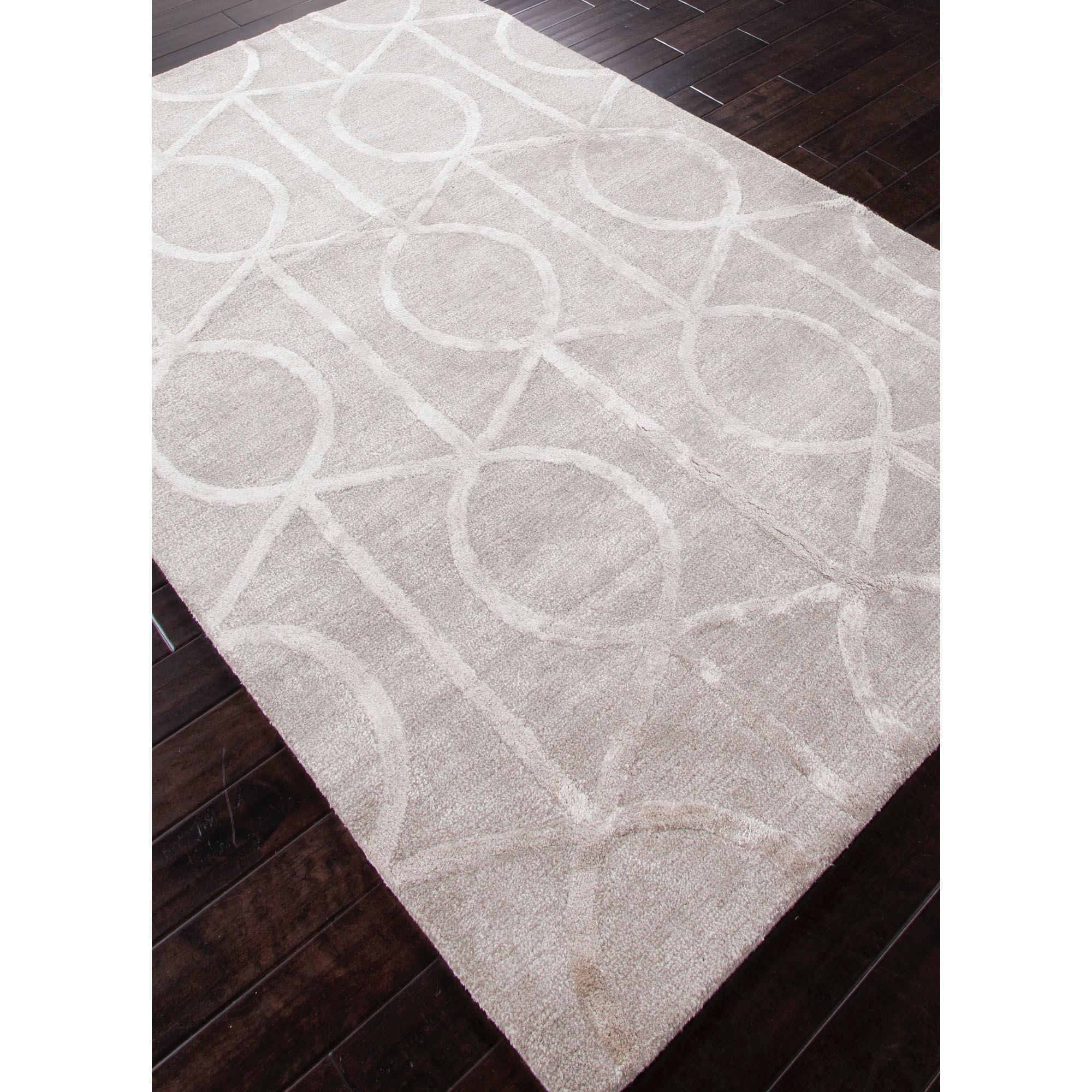 Beautiful Jaipur Rugs Hand Tufted Geometric Pattern Wool/ Art Silk Taupe/