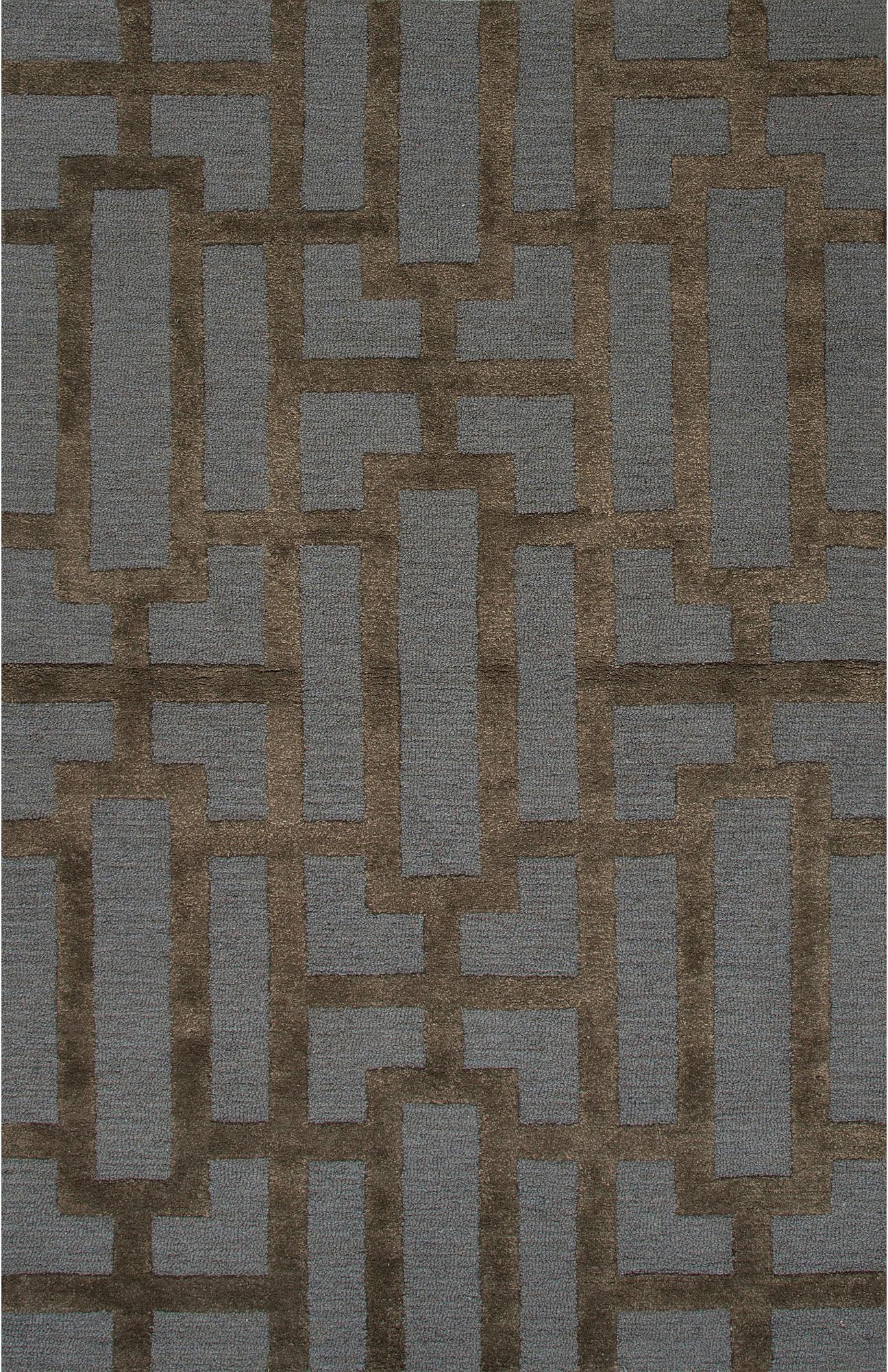 Jaipur Rugs Floor Coverings Hand Tufted Textured Wool Art Silk Blue