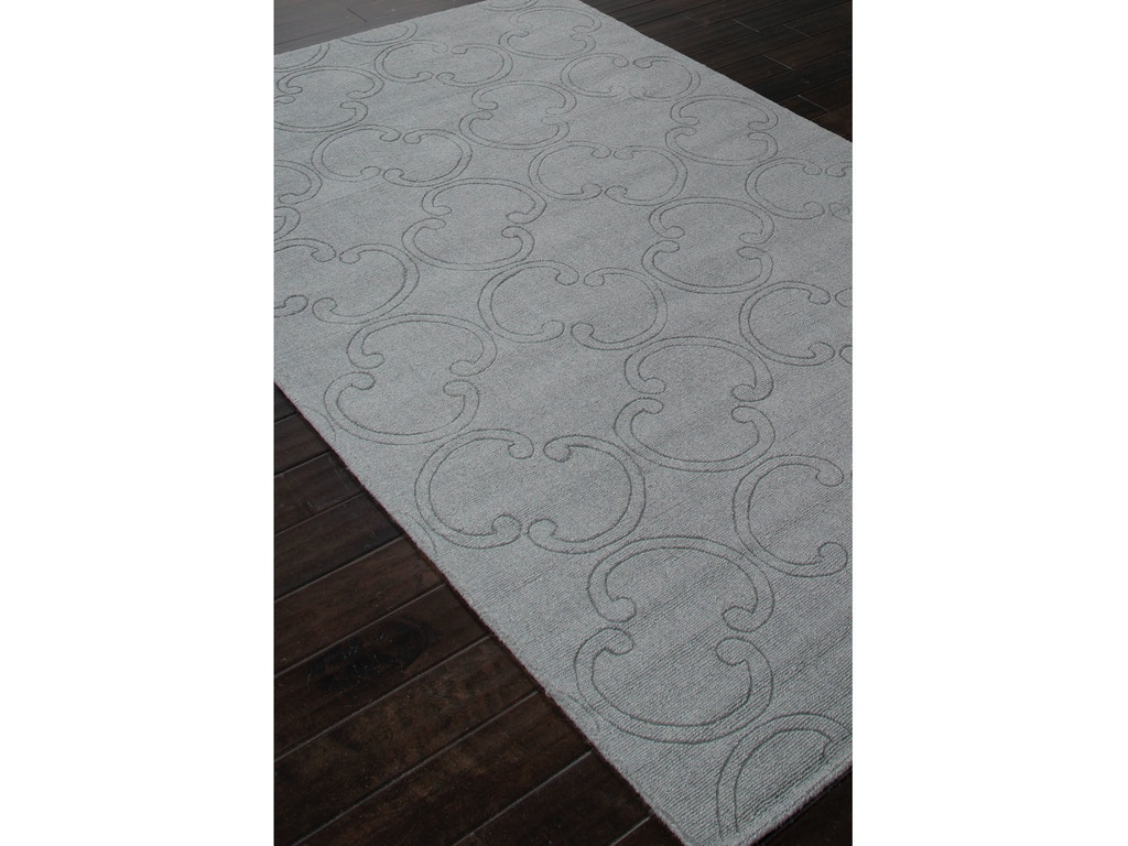 Jaipur Rugs Handmade Looped Cut Wool Gray Solid Area Rug Mt30