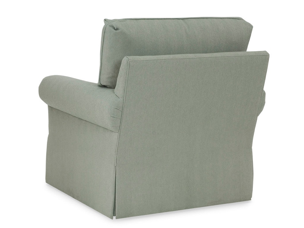 ... Chaddock Studio C Swivel Chair - Straight Cushion Option 7200-1SW - Chaddock Living Room Studio C Swivel Chair - Straight Cushion
