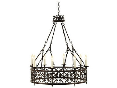 Chaddock Living Room Hand Forged Iron Candelabra