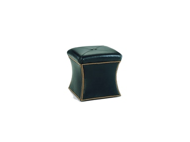 Chaddock Living Room Hourglass Ottoman (Leather)