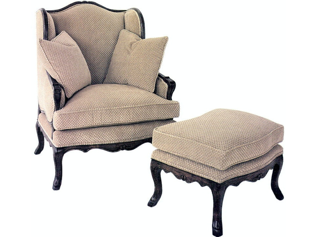 Bergere chair and ottoman - Guy Chaddock Collection French Bergere Ottoman Uc3190
