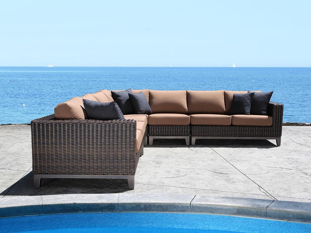 Cabana Coast OutdoorPatio Columbia Wicker Outdoor Sectional   Hickory  Furniture Mart   Hickory, NC