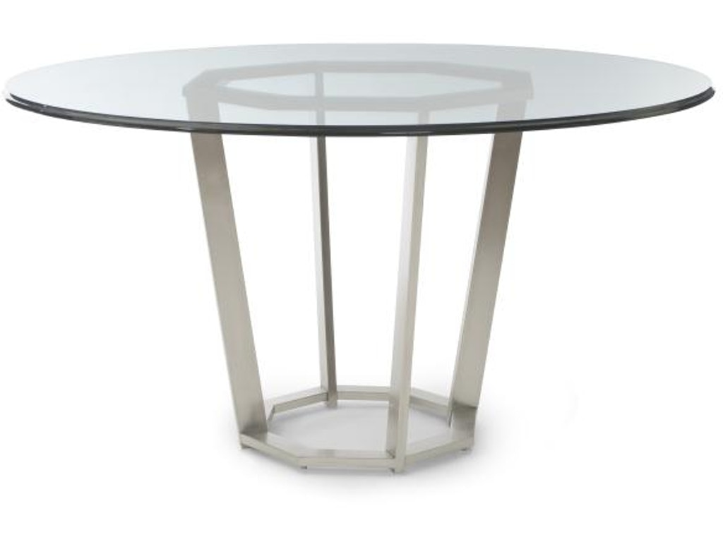 Century furniture dining room fair park metal base dining for Metal dining table
