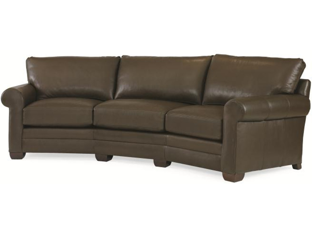 Century furniture living room leatherstone wedge sofa lr for Lr furniture