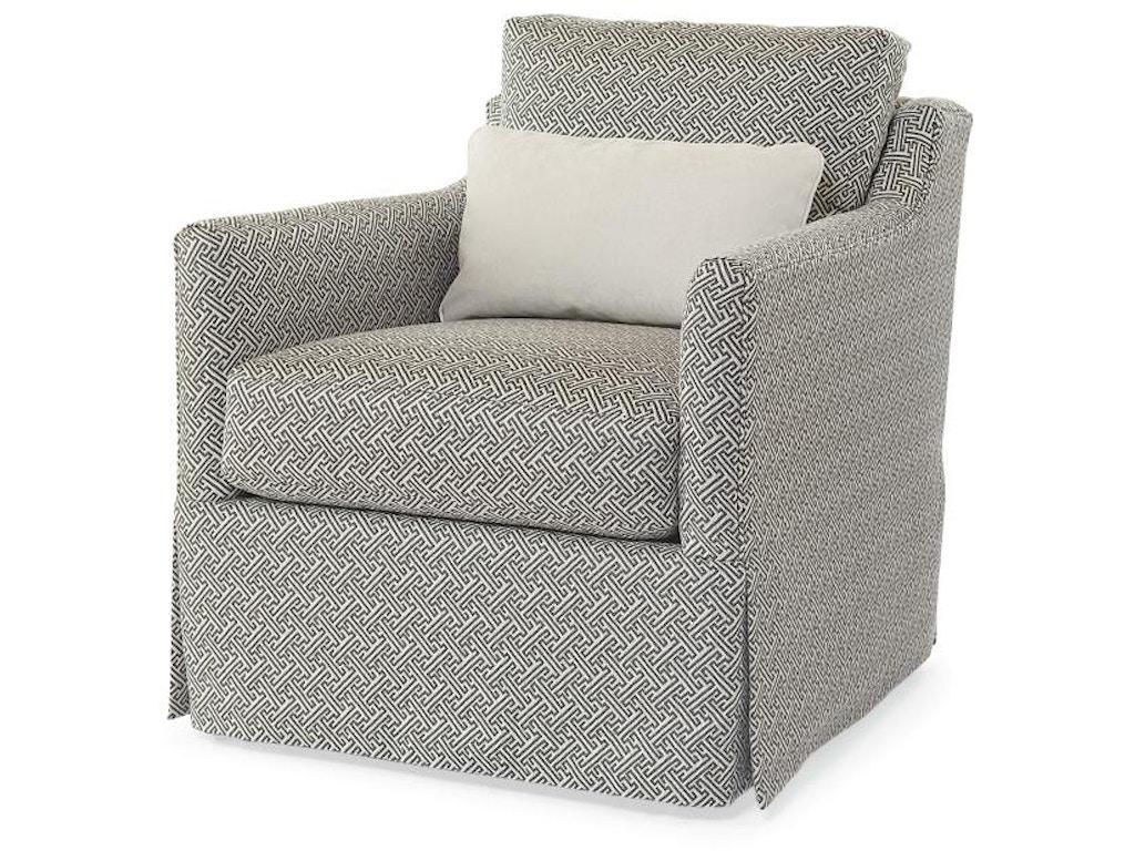 Century Furniture Living Room Allison Skirted Swivel Chair Ltd5141 8sk Saxon Clark Furniture