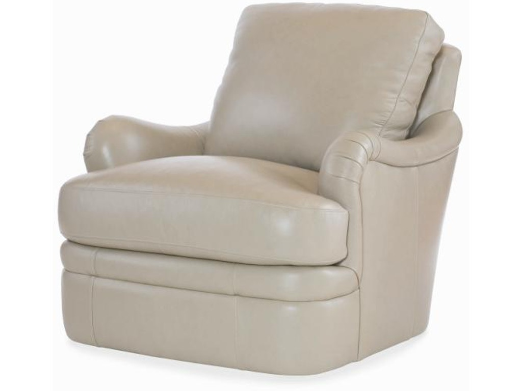 Century Furniture Living Room Leather Swivel Chair Plr 6708 Cloud Stacy Furniture Grapevine