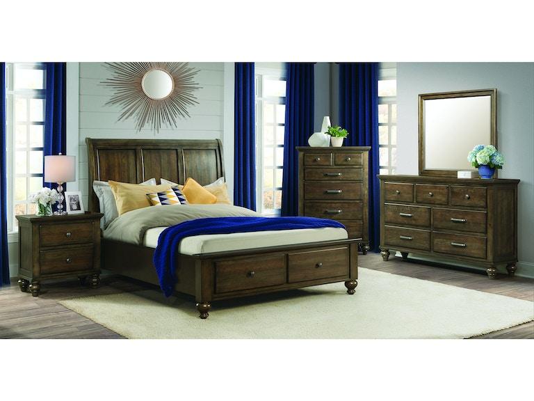 Elements International Chatham Grey Storage Bedroom