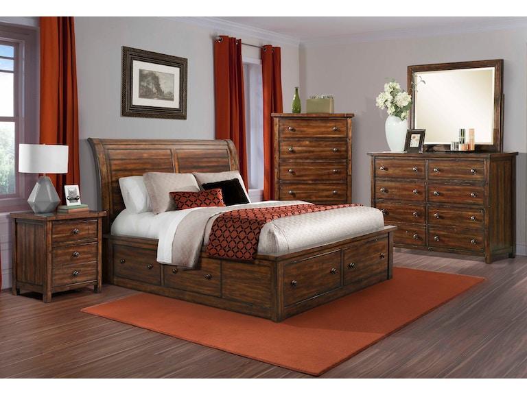 elements international dawson creek sleigh storage bedroom