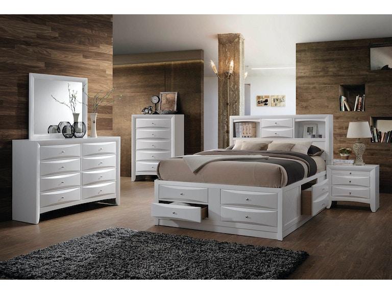 Elements International Emily White Storage Bedroom - Elements ...