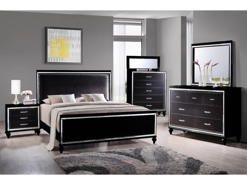 Miami Bedroom Furniture Elements International Miami Black Bedroom Elements