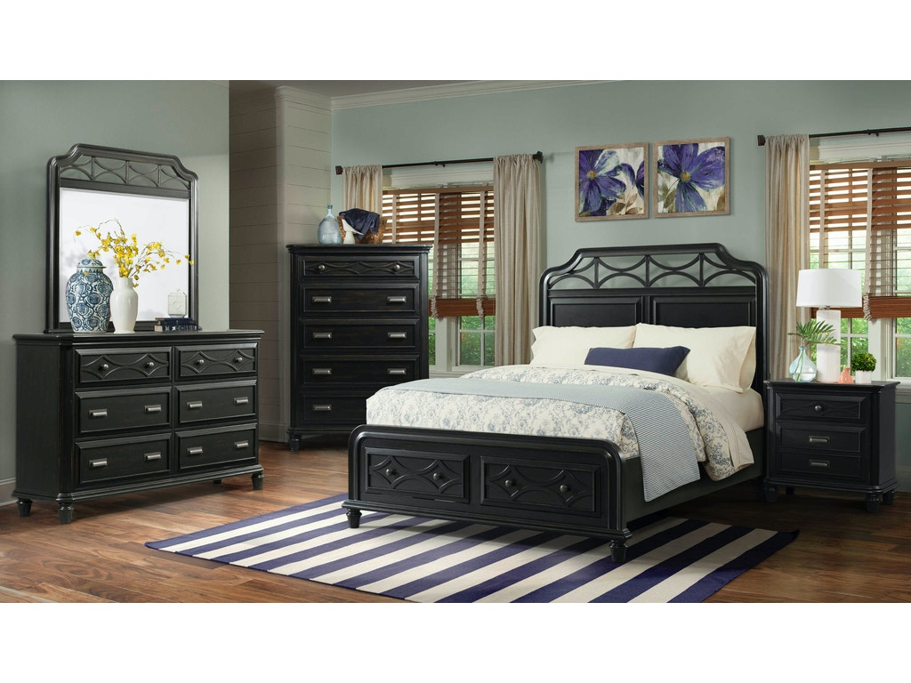 Elements international mystic bay storage black bedroom for Storage bay