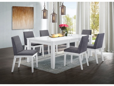 Elements International Dining Room Piper White