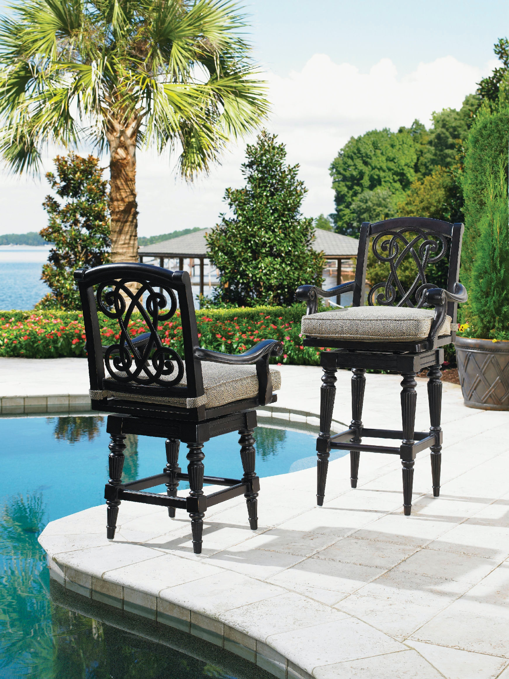 Tommy Bahama Outdoor Living Outdoorpatio Swivel Bar Stool 3190 16sw Norris Furniture