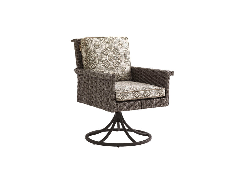 Tommy Bahama Outdoor Living Outdoorpatio Swivel Rocker Dining Chair 3230 13sr Norris Furniture