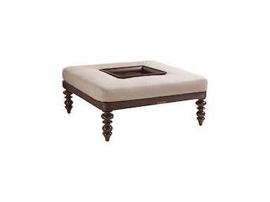 Tommy Bahama Outdoor Living Cocktail Ottoman W/Tray